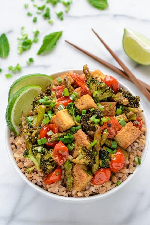 Honey Lime Tofu Stir Fry Crispy Tofu Wellplated Com