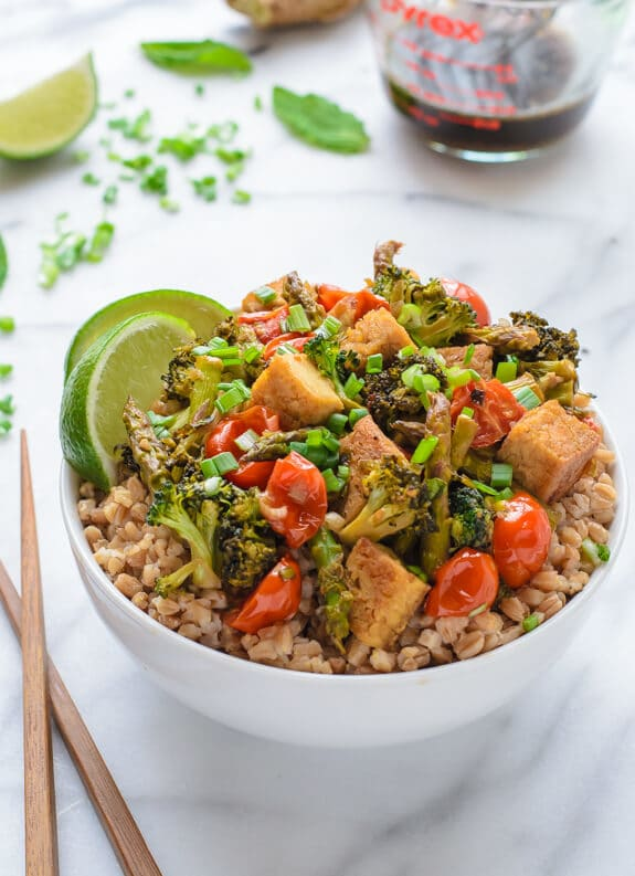 Honey Lime Tofu Stir Fry