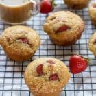 Strawberry Vanilla Greek Yogurt Muffins