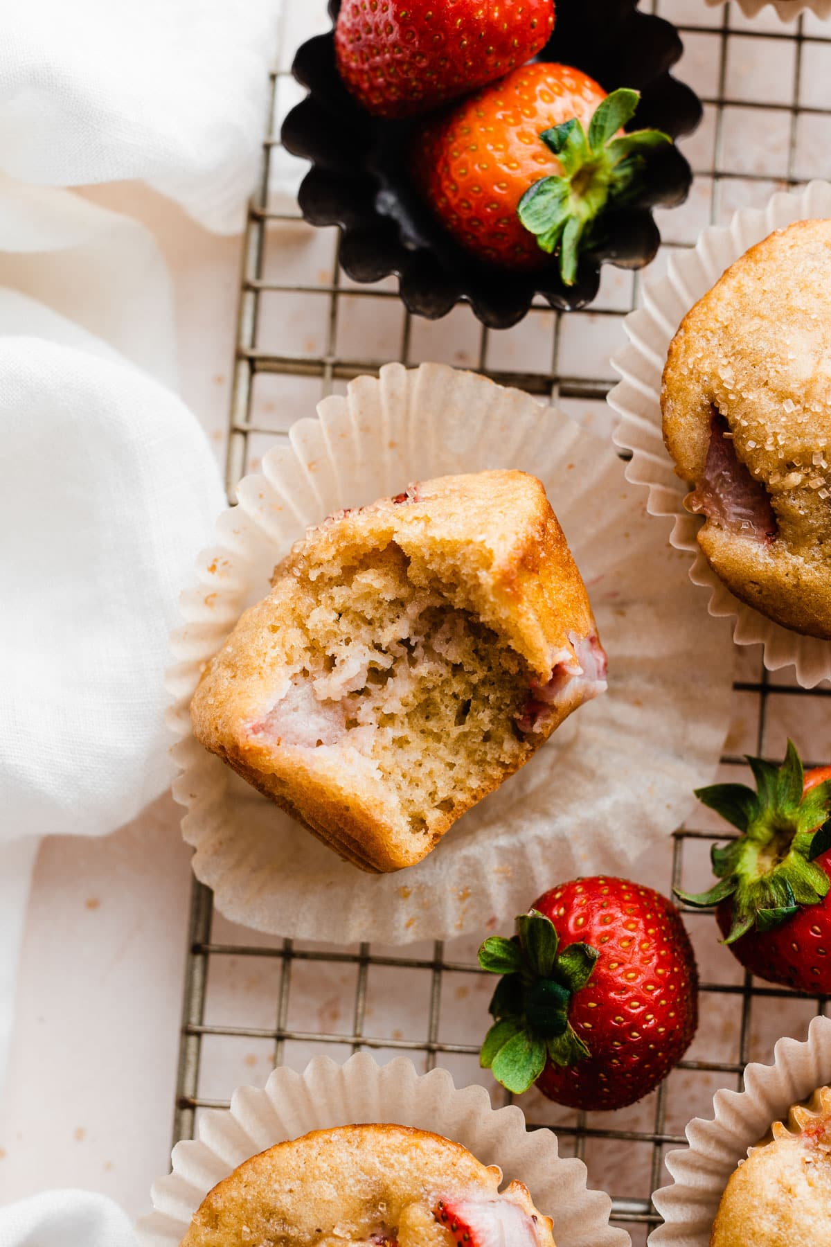 Muffin Strawberry Yogurt Strawberry Vanilla Yogurt