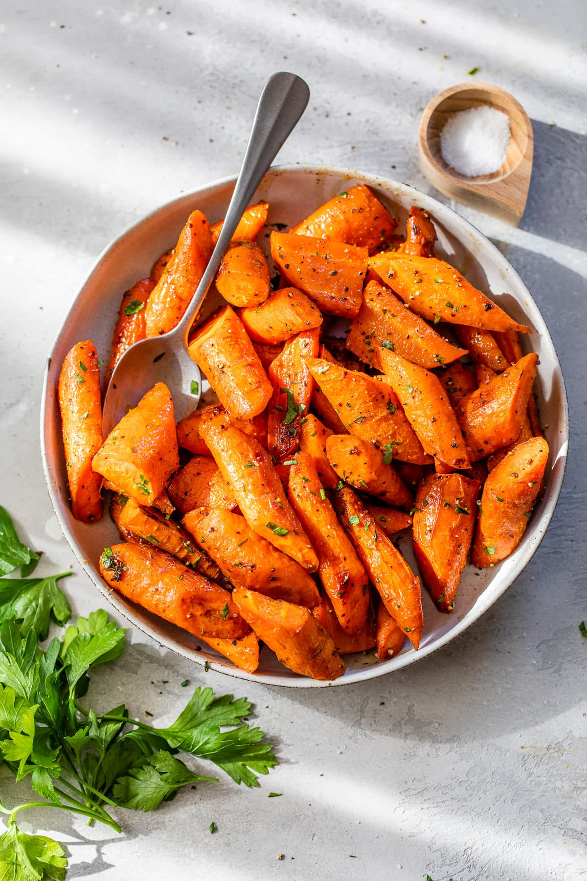 The best way to roast carrots- tahini and cumin