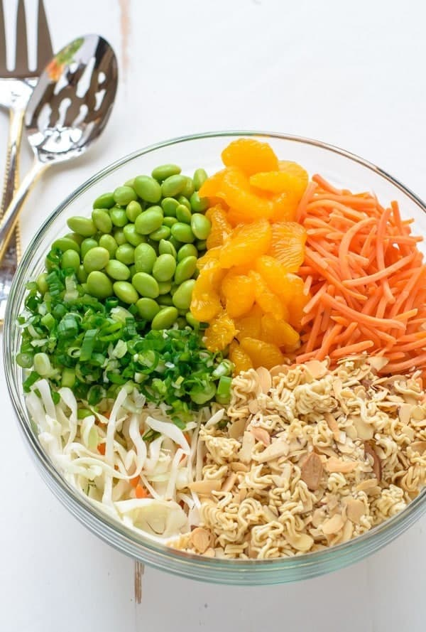Asian Ramen Salad - made with better ingredients and ready in 10 minutes