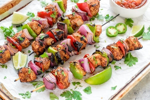 Grilled Fajita Chicken Kebab Recipe