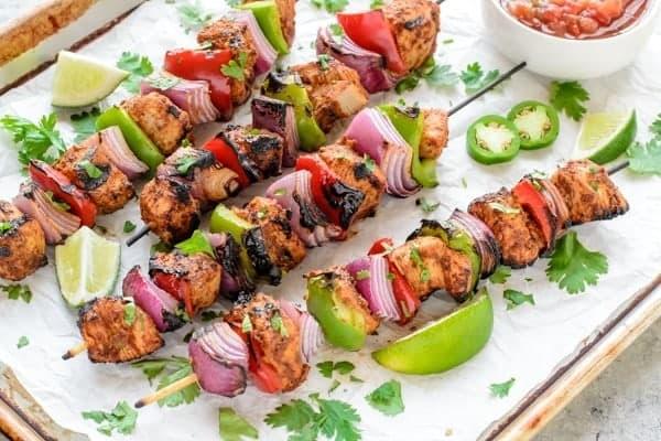 Grilled Fajita Chicken Kebab Recipe