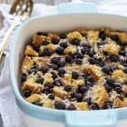 Overnight Blueberry Coconut French Toast Bake