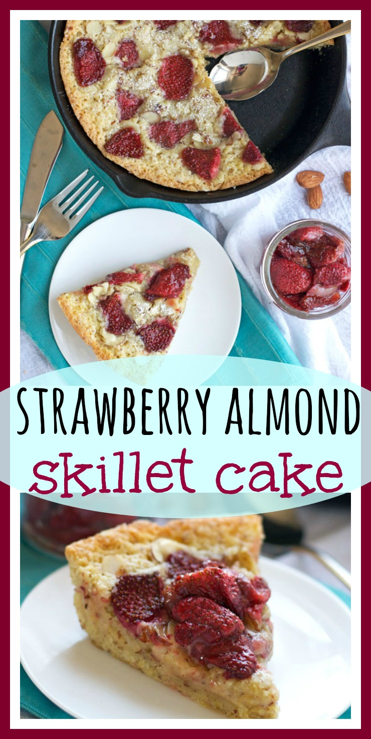 Strawberry Almond Skillet Cake // Well-Plated