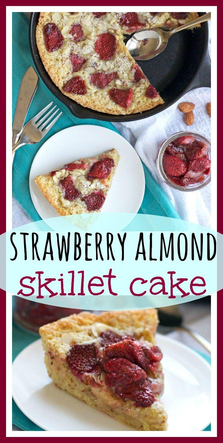 Strawberry Almond Skillet Cake