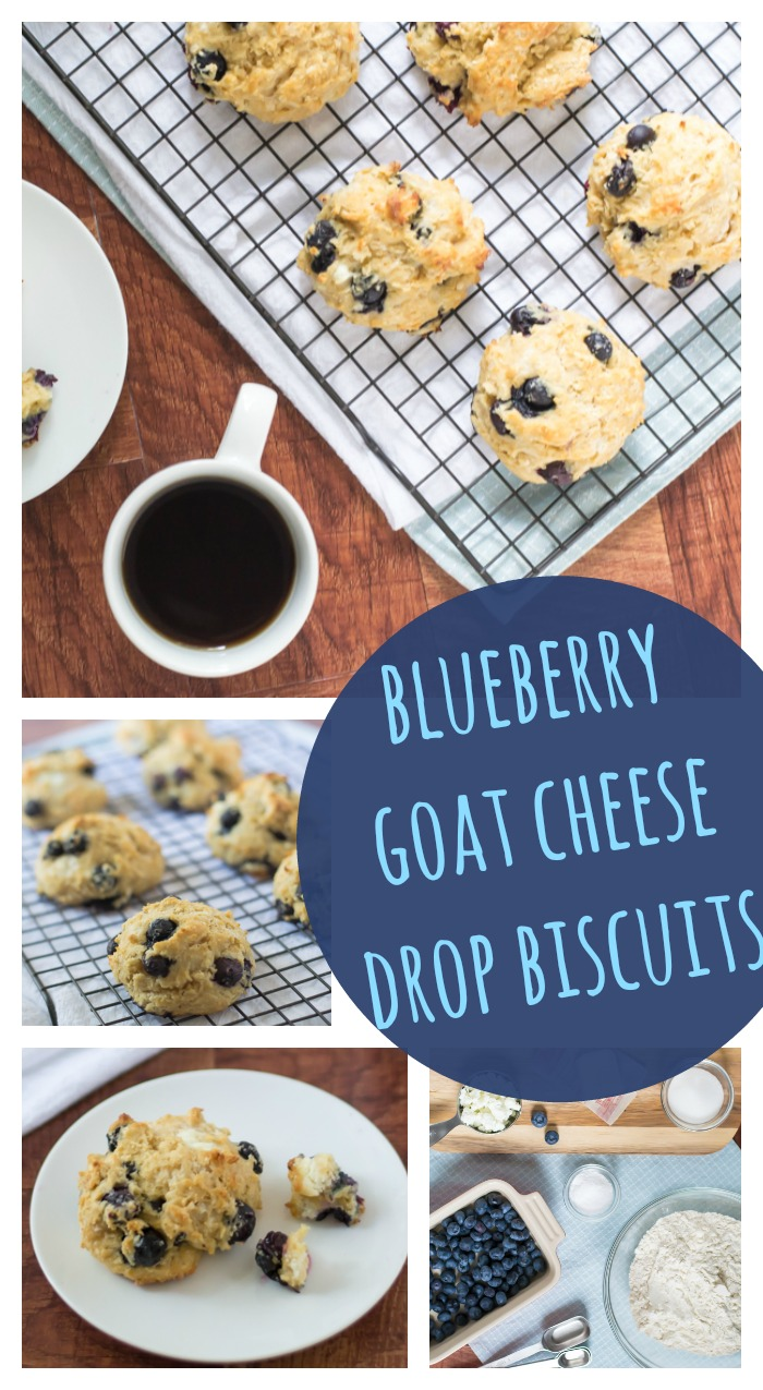 Blueberry Goat Cheese Drop Biscuits // Well-Plated