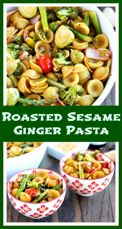 Asian Sesame Ginger Roasted Vegetable Pasta // Well-Plated