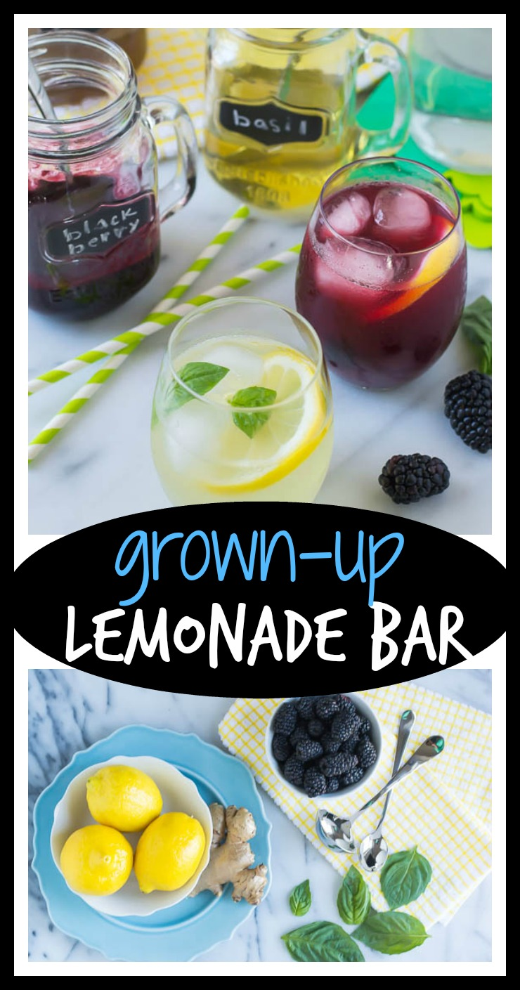 Grown-Up Lemonade Bar with Basil, Blackberry, and Ginger Simple Syrup // Well-Plated