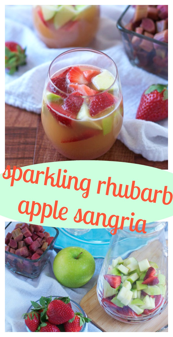 Sparkling Rhubarb Apple Sangria // Well-Plated