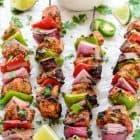 The best summer grilling recipe- Fajita Chicken Kebabs
