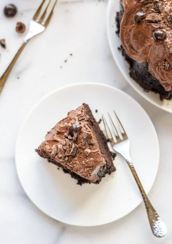 Triple Chocolate Mocha Cake. This is the best chocolate cake recipe!