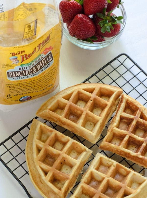 Buttermilk Strawberry Waffles