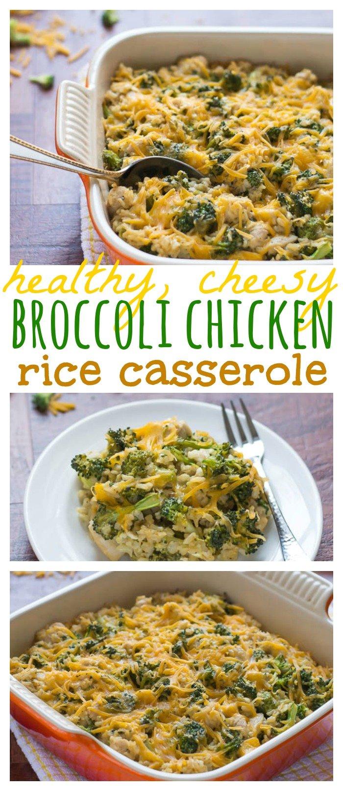 Healthy, Cheesy Broccoli Chicken Rice Casserole // Well-Plated