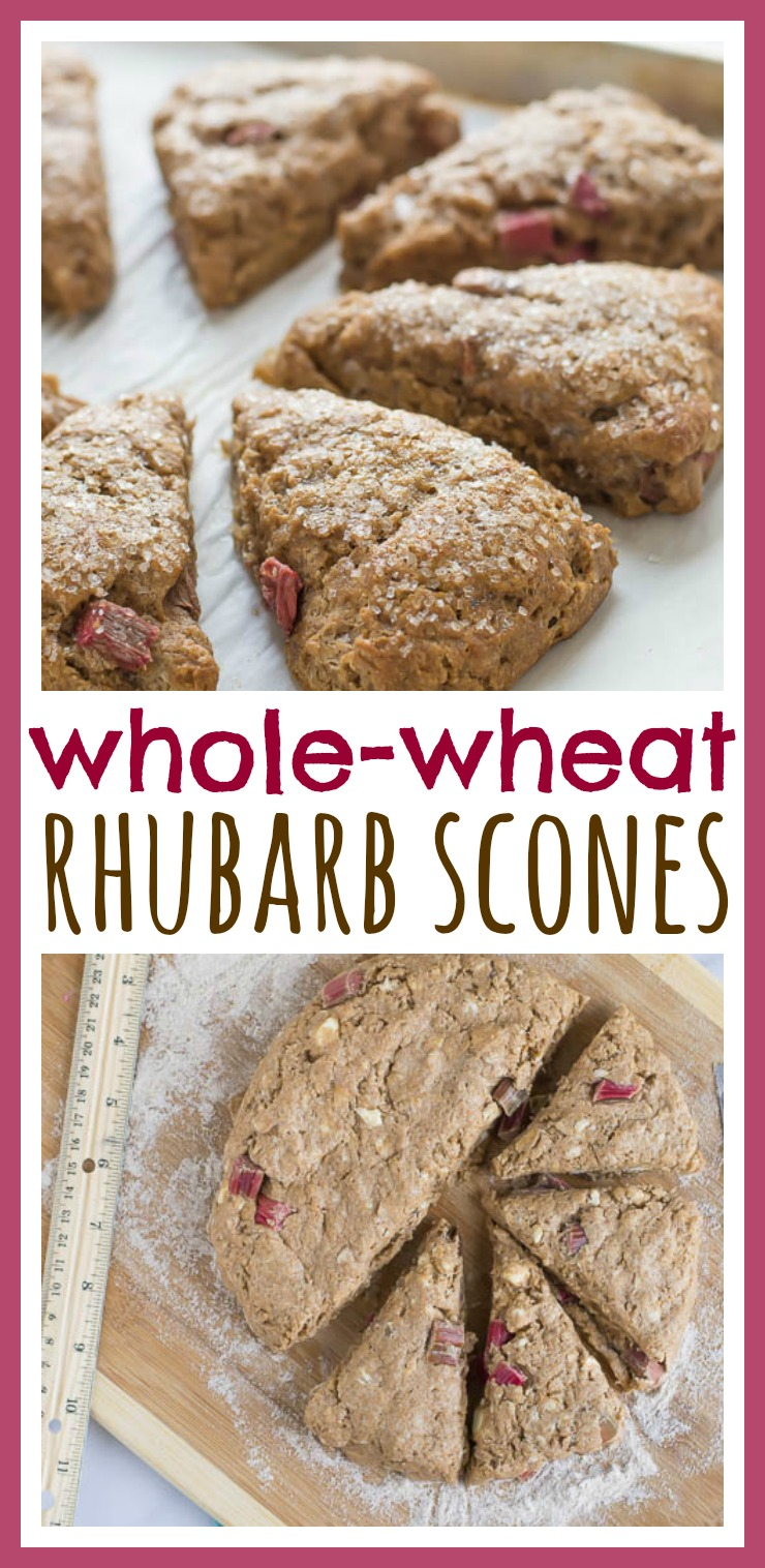 Whole-Wheat Rhubarb Scones // Well-Plated