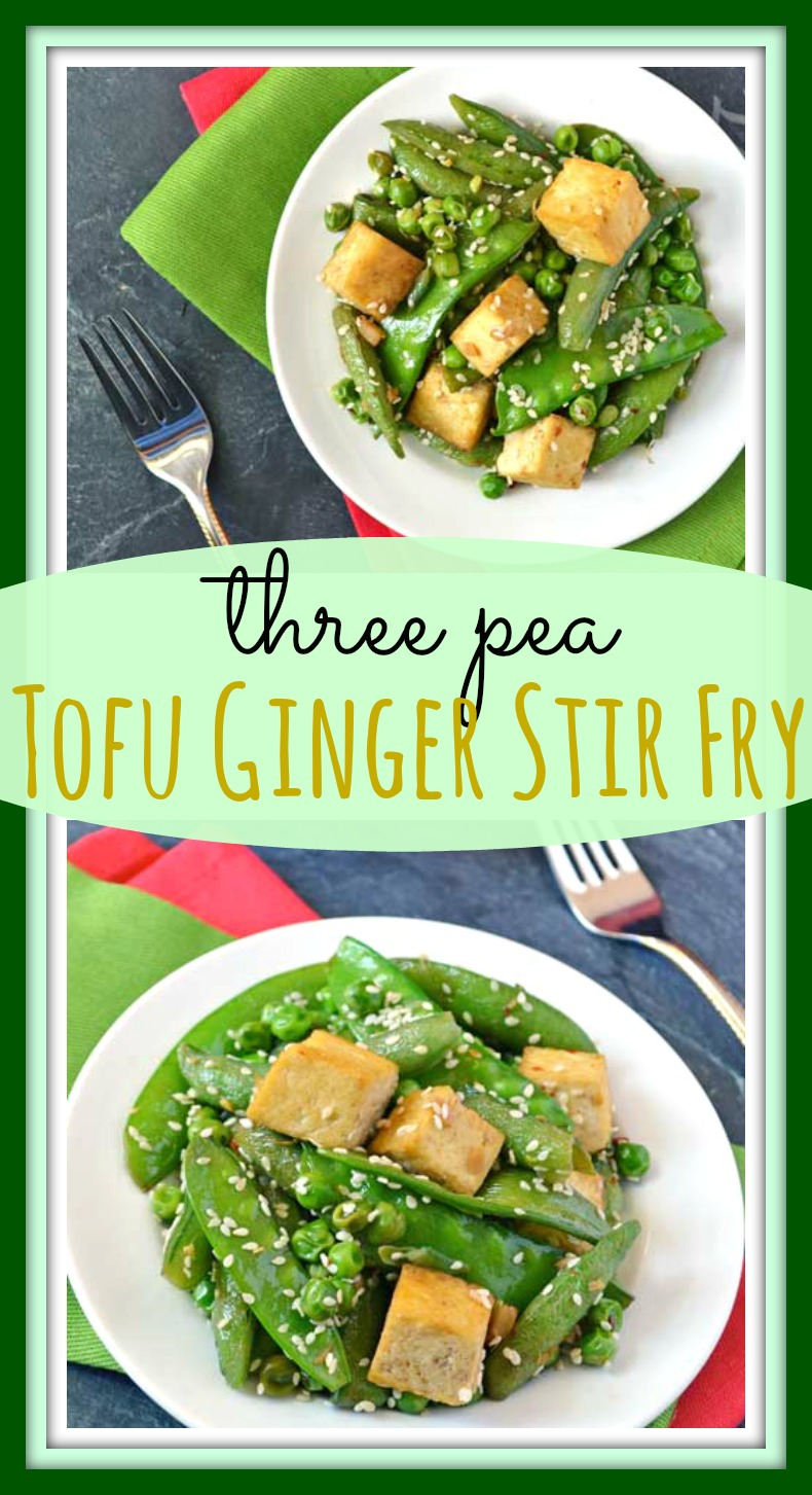 Three Pea Tofu Ginger Stir Fry // Well-Plated