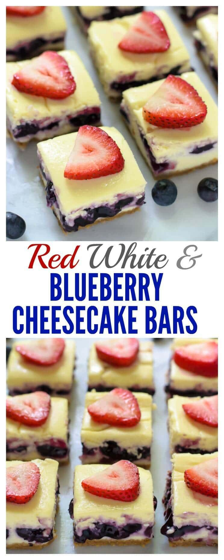 Red White and Blueberry Cheesecake Bars. The perfect red white and ...