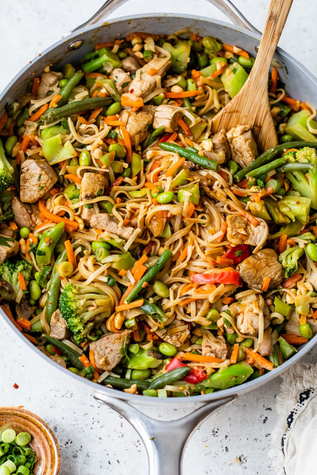 Slow Cooker Pork Stir Fry with Peanut Noodles