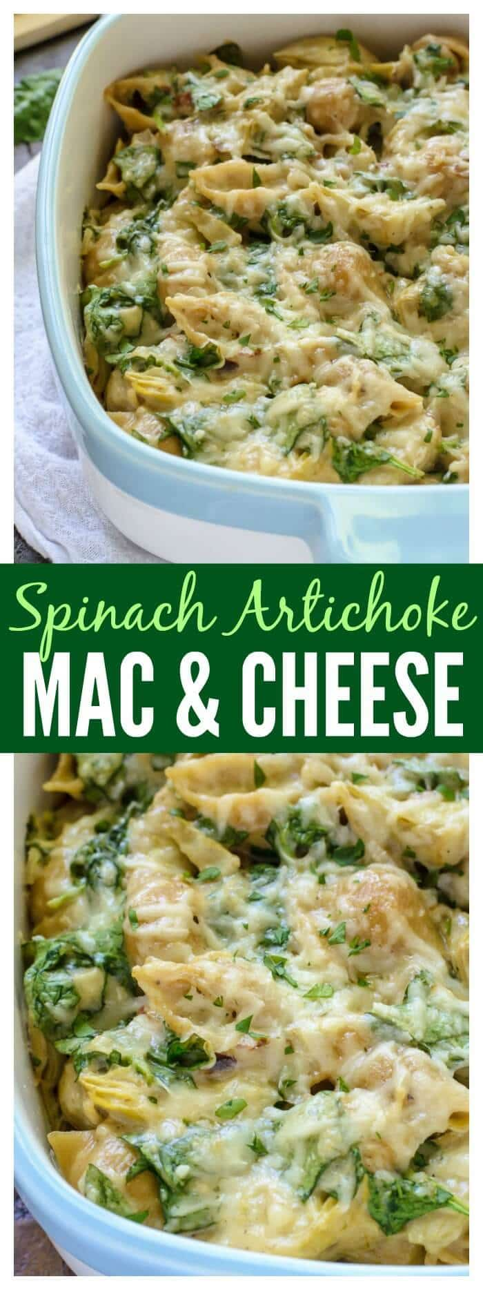 Everyone's favorite Spinach Artichoke Dip in Mac and Cheese form! A ...