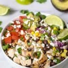 Copycat Chipotle Burrito Bowls with Chicken and Quinoa #glutenfree