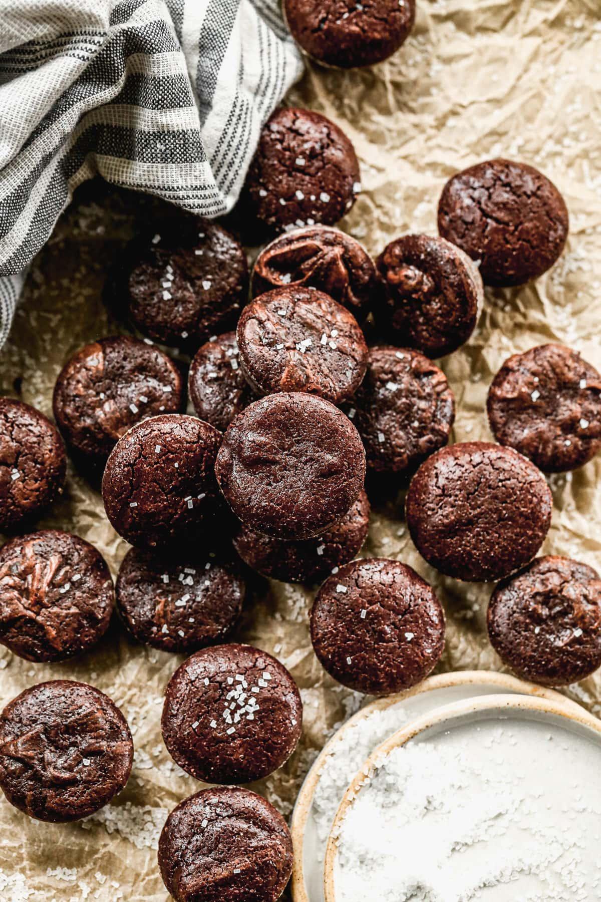 Mini chocolate brownie bites