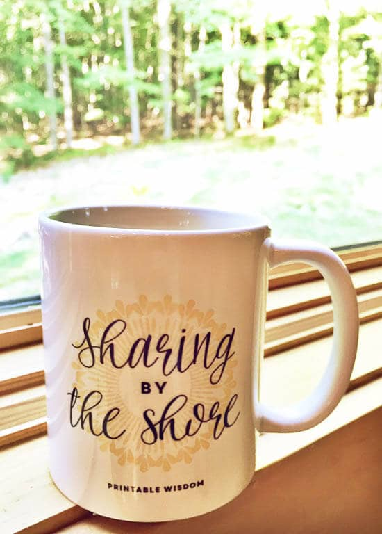 Printable Wisdom Blog Retreat Mug