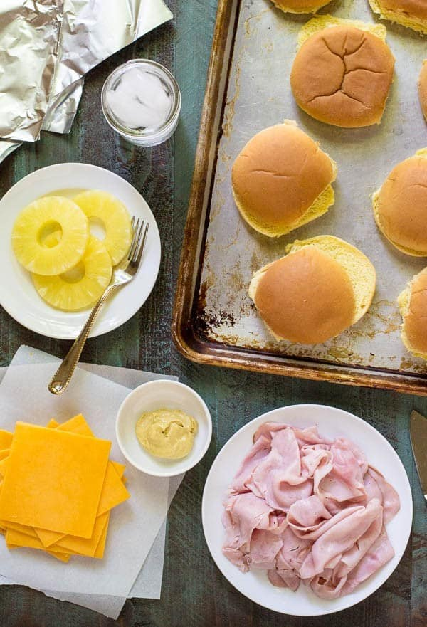 Our favorite easy campfire food recipe: Cheesy Ham and Pineapple Sandwiches. Wrap in foil and cook with the campfire!