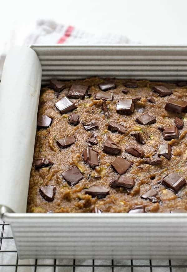 Paleo Zucchini Bread with Chocolate Chips. Even if you aren't following a Paleo diet, you'll LOVE this delicious, low carb chocolate zucchini bread recipe! Recipe at wellplated.com | @wellplated