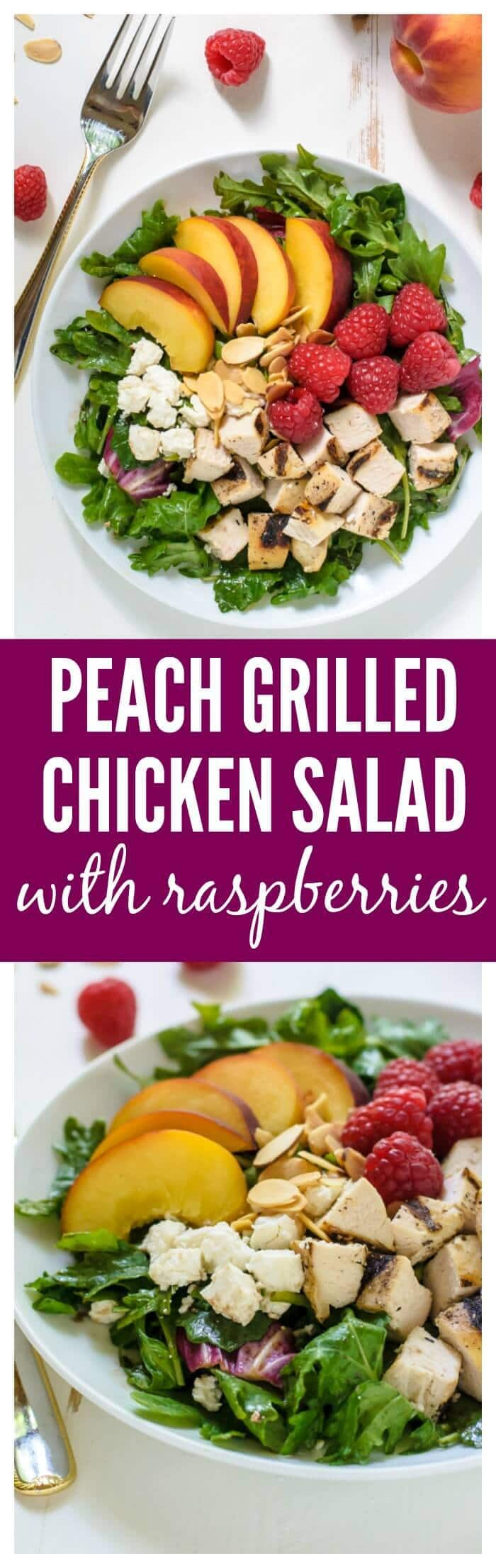 ... with Grilled Chicken, Raspberries, and Honey Balsamic Vinaigrette