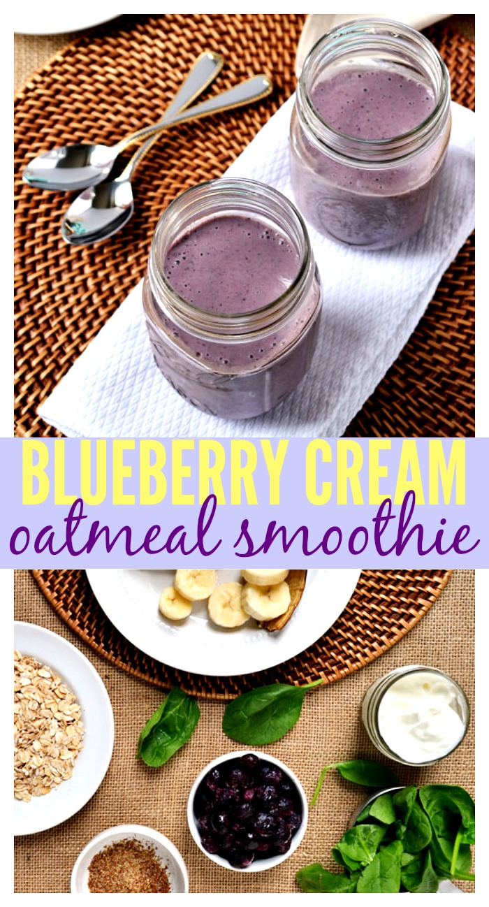 Blueberry Cream Oatmeal Smoothie // Well-Plated