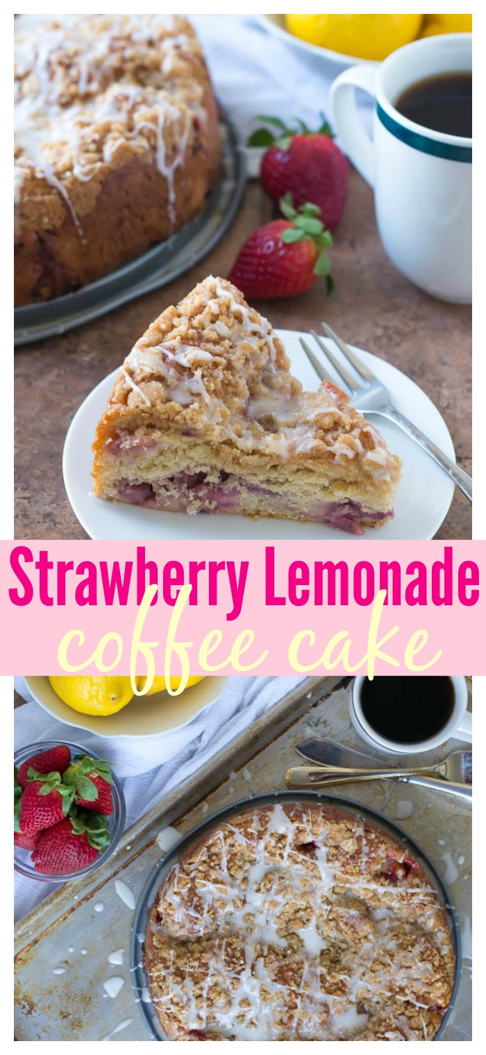 Strawberry Lemonade Coffee Cake // Well-Plated