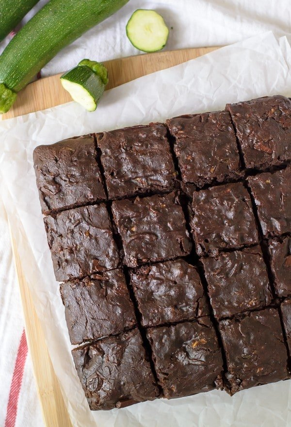 Whole wheat and naturally sweetened Zucchini Brownies made with coconut oil. I couldn't believe that these are healthy!