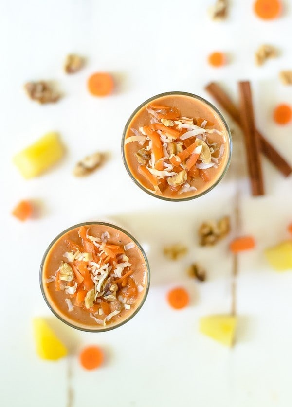 A carrot smoothie recipe that tastes just like carrot cake