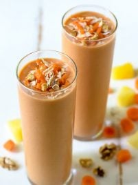 Carrot Cake Smoothie. This healthy carrot smoothie tastes just like a slice of carrot cake! Even kids love it