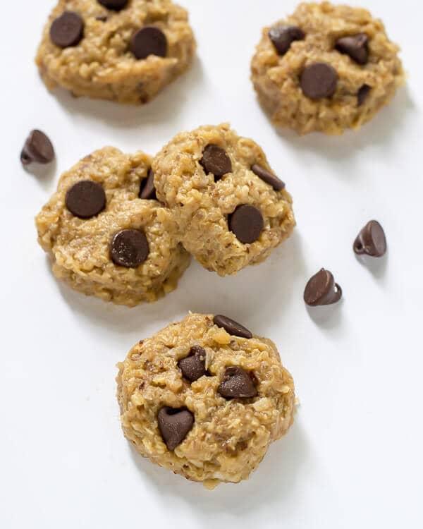 Paleo Chocolate Peanut Butter No Bake Quinoa Cookies. #paleo #glutenfree