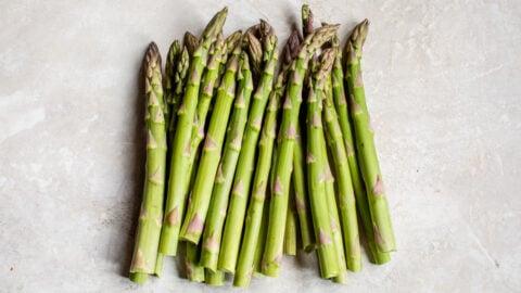 Green vegetable spears