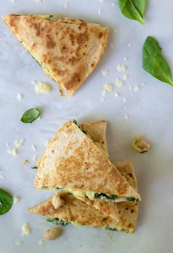Make-ahead freezer breakfast quesadillas