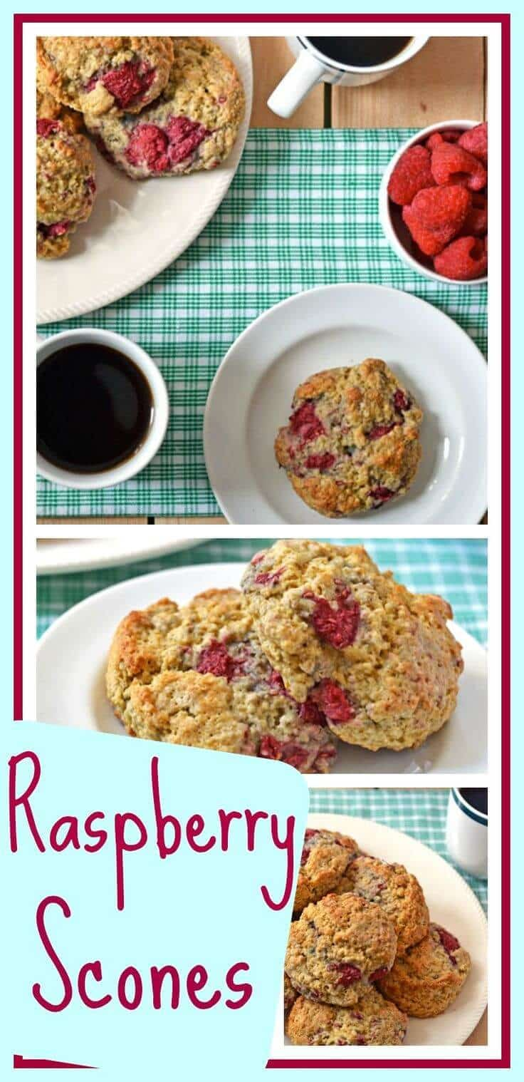 Fluffy Raspberry Oatmeal Scones