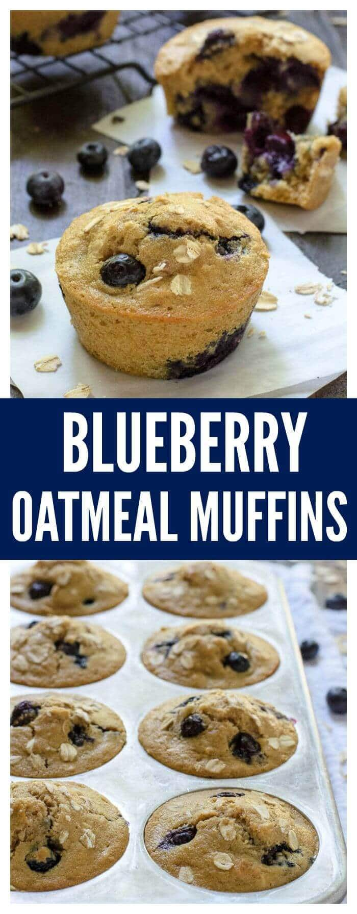 The Best Ever Healthy Blueberry Muffins—Soft, fluffy, and every bite ...
