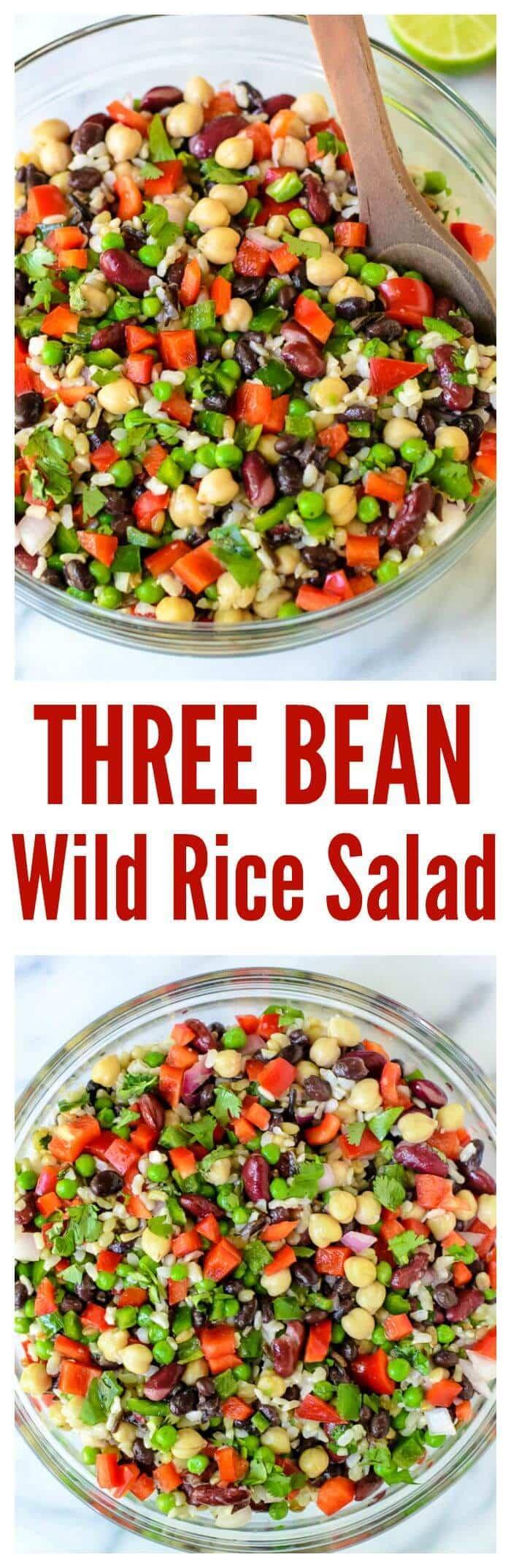 Three Bean Wild Rice Salad. The ultimate potluck recipe!