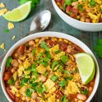 Easy Taco Soup. Ready in 10 minutes and less than $1.50 a serving!