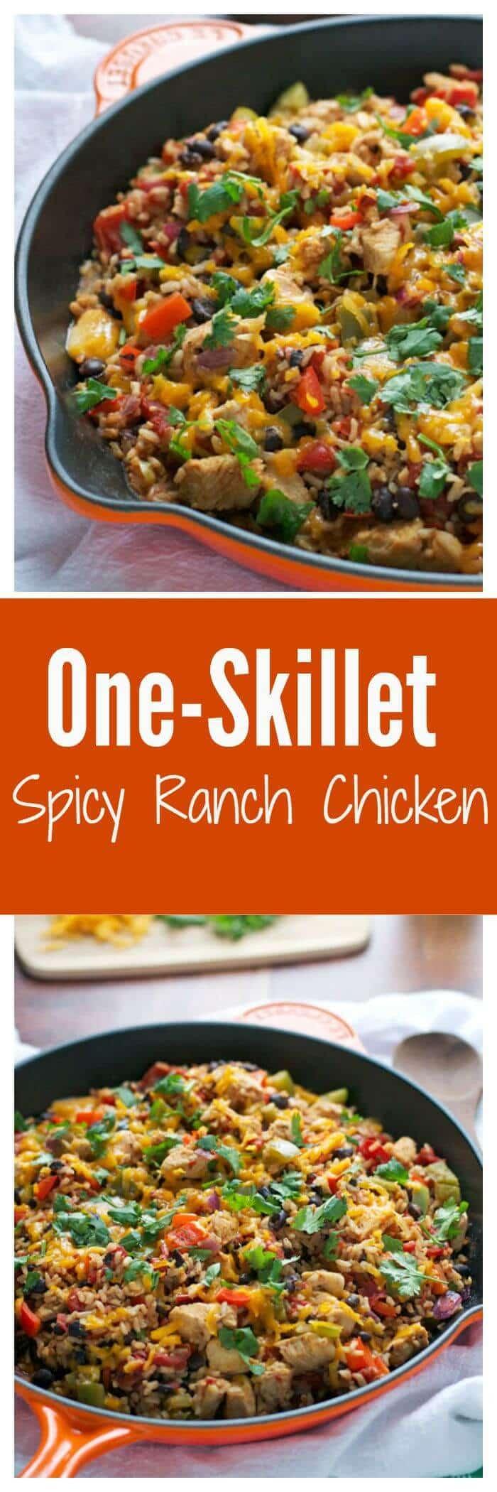 One Skillet Spicy Ranch Chicken