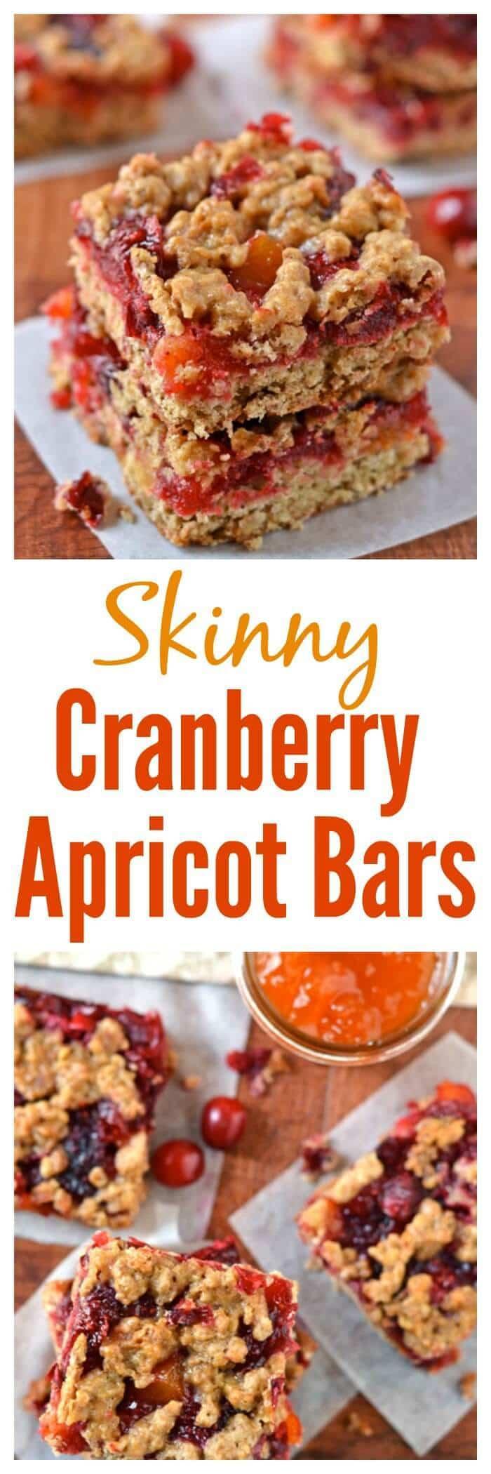 Skinny Cranberry Apricot Bars