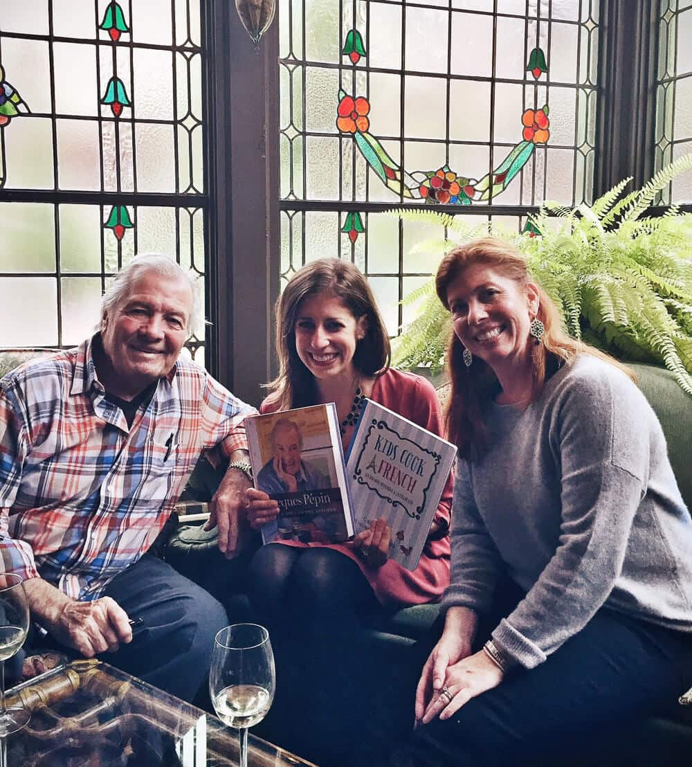 Jacques Pepin, Claudine Pepin, and Erin Clarke
