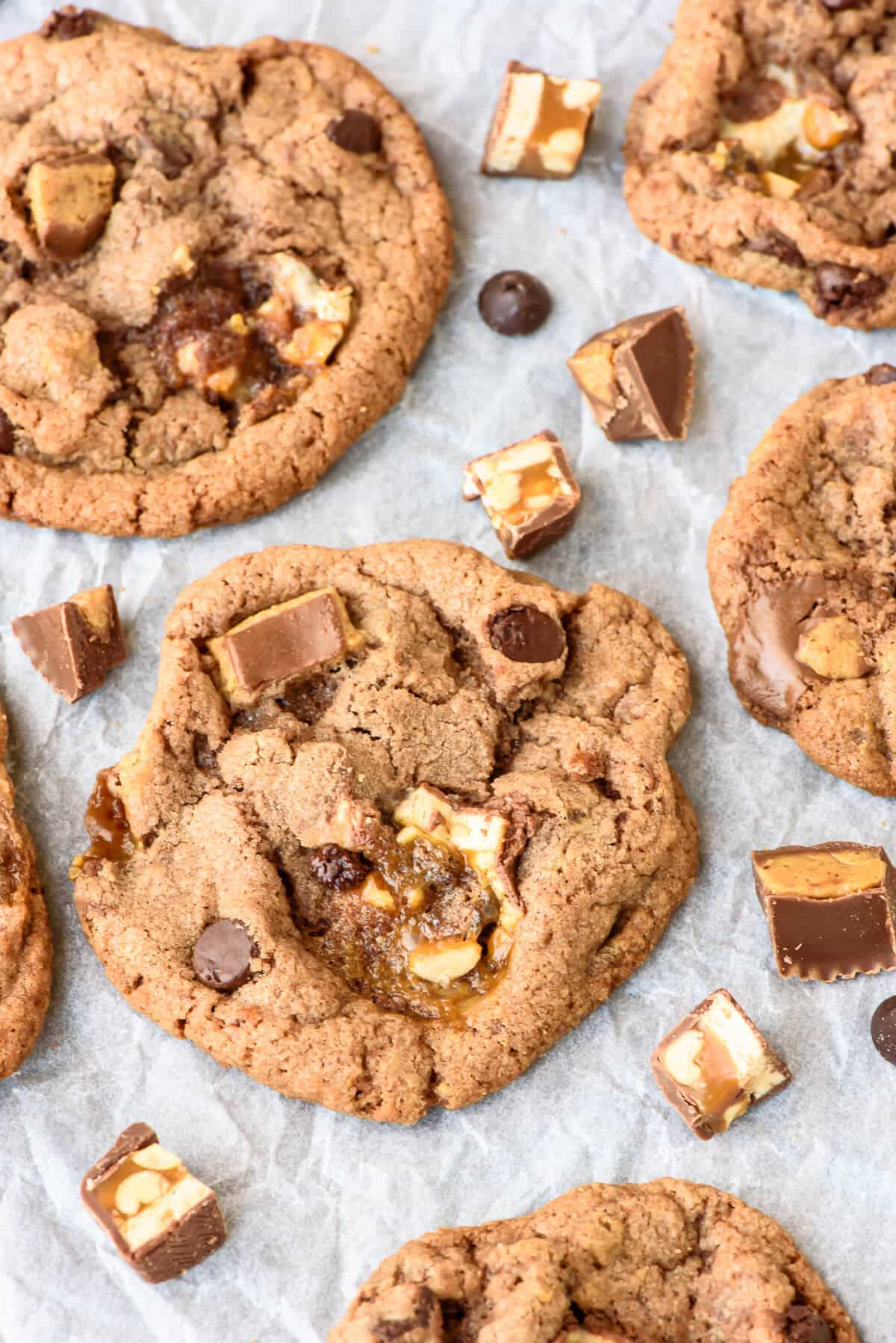 and Chewy Peanut Butter Snickers Cookies. These are the BEST cookies ...