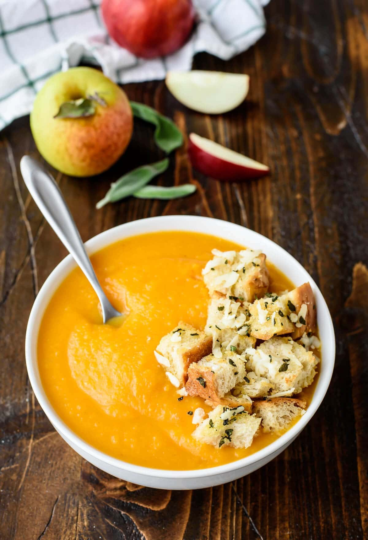 Butternut Squash Apple Soup Recipe Well Plated By Erin