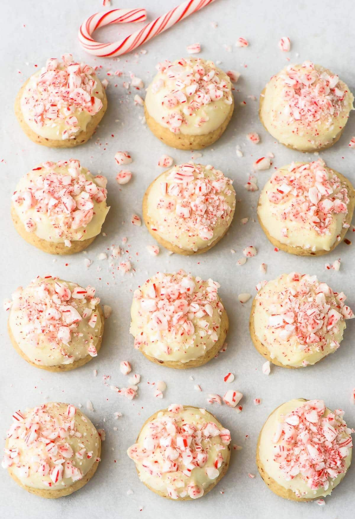 White Chocolate Candy Cane Snowball Cookies. Everyone will love this easy Christmas cookie recipe!