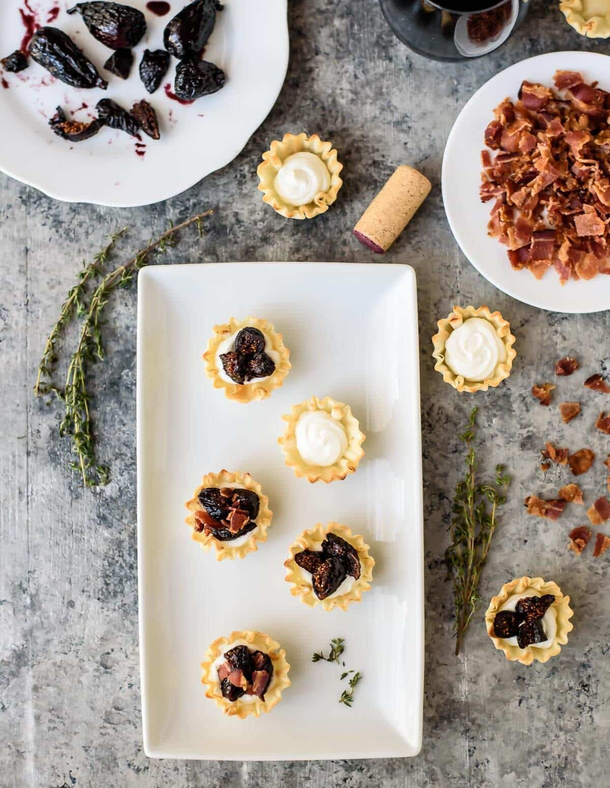Easy Fig Goat Cheese Bacon Bites in Phyllo Dough