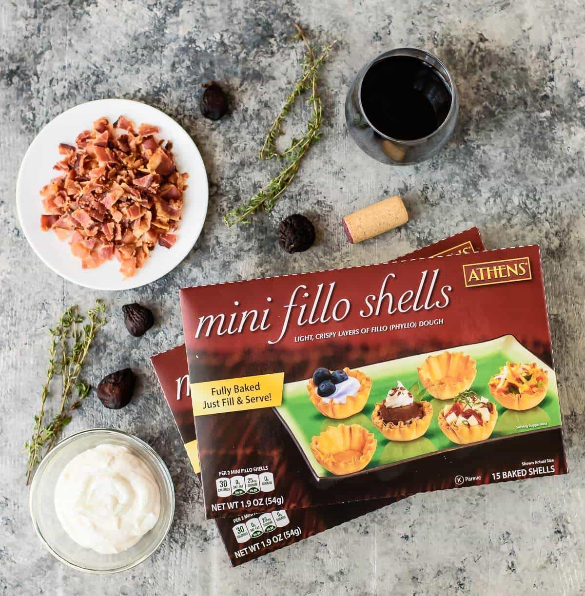 How to Make MIni Fig Goat Cheese Bacon Bites, step-by-step